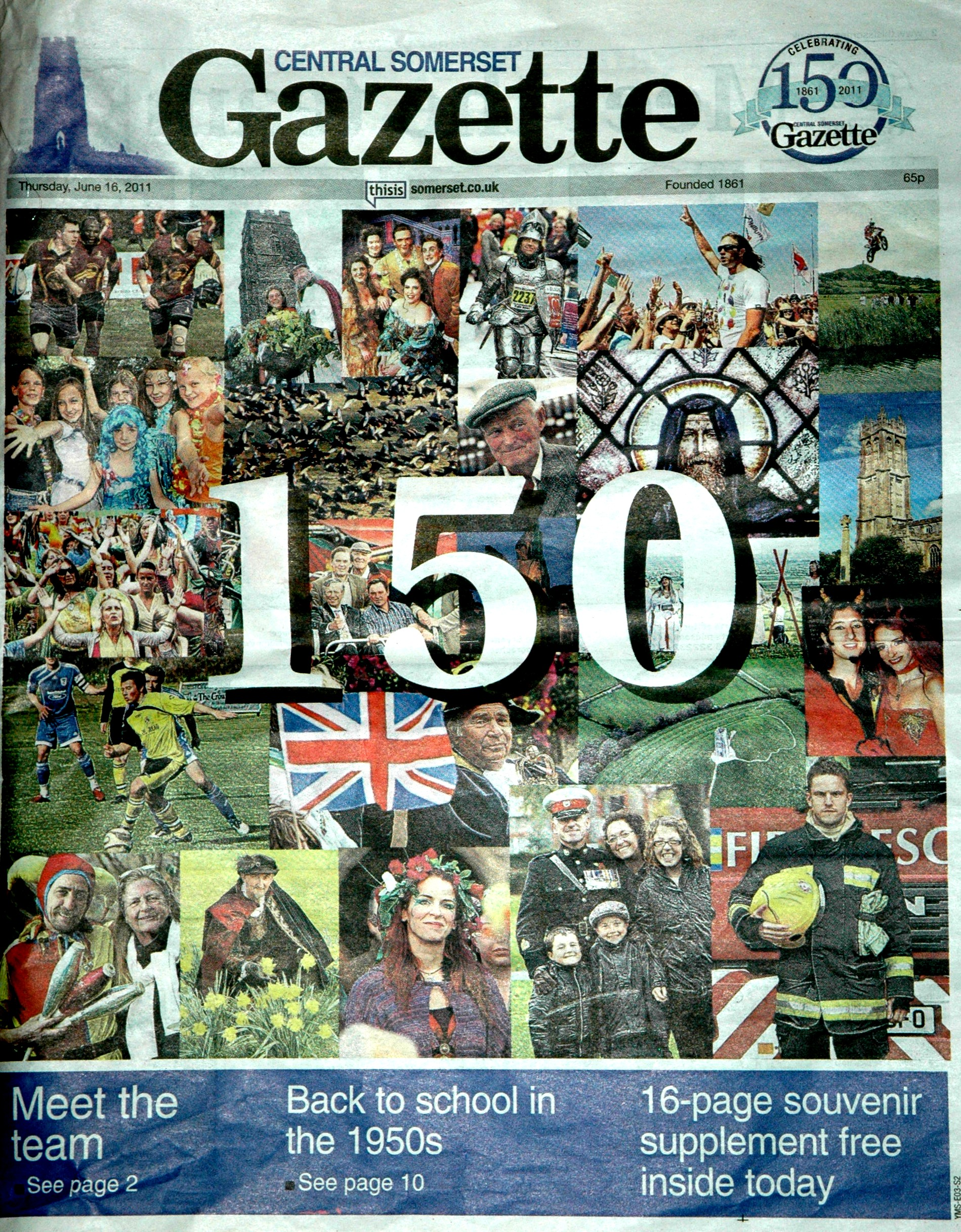 Cover of then Somerset Gazette 2011