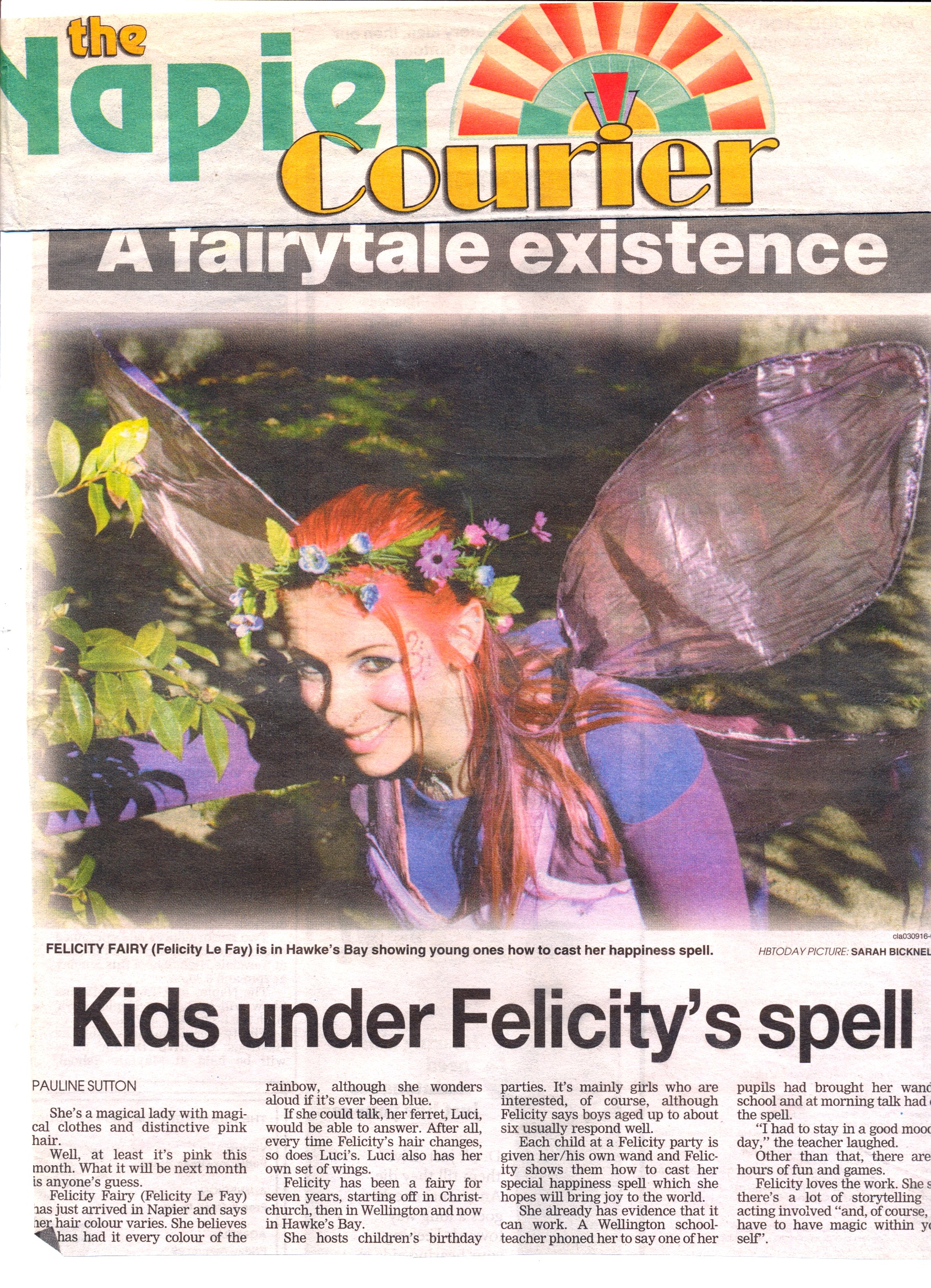 Cover of the Napier Chronicle, New Zealand