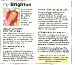 Felicity Fairu featured in the Brighton Argus