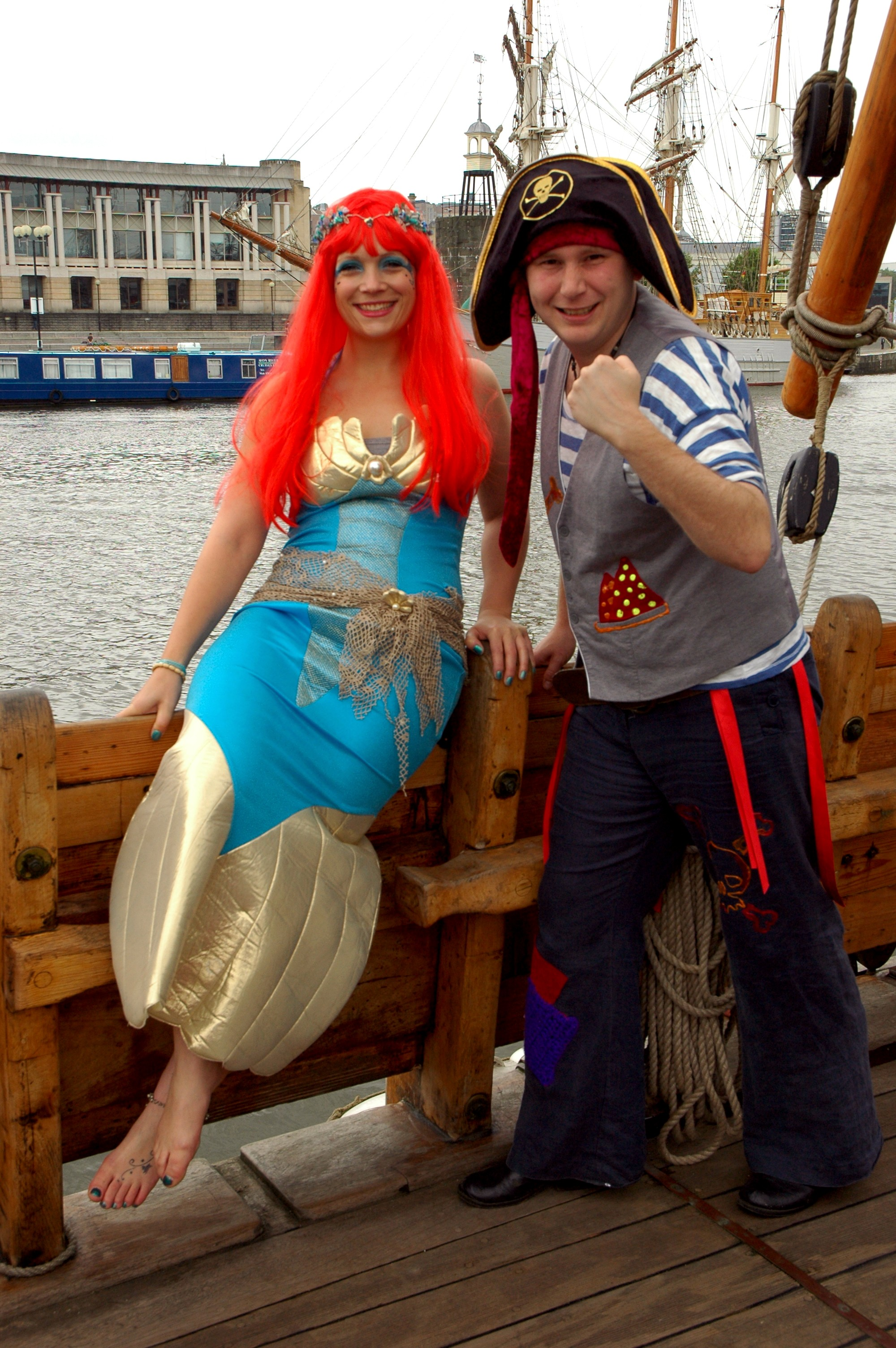 Flotsam Mermaid and Captain Cannonball Bob