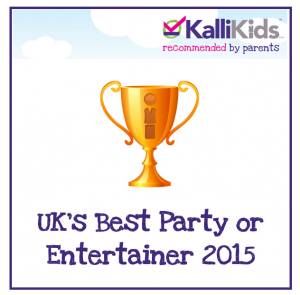 KalliKids Awards UK's Best Party or Entertainer 2015