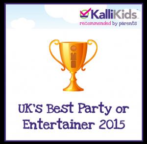 KalliKids Awards UK's Best Party or Entertainer 2015