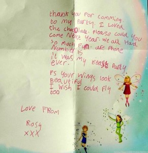A letter from Rosy, aged 7 of Southwick