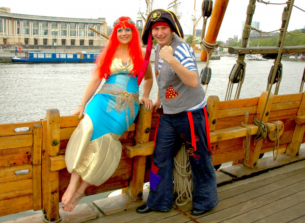 Flotsam Mermaid with Captain Cannonball Bob
