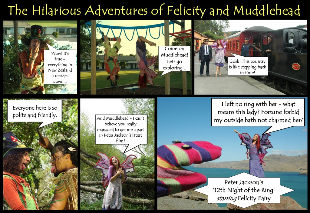 Felicity Fairy and Muddlehead the Pixie Adventures in New Zealand