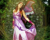 Felicity Fairy emerges from the woods